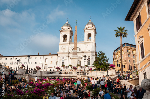 Spanish Steps in the Plaza of Spain in Rome Canvas Print