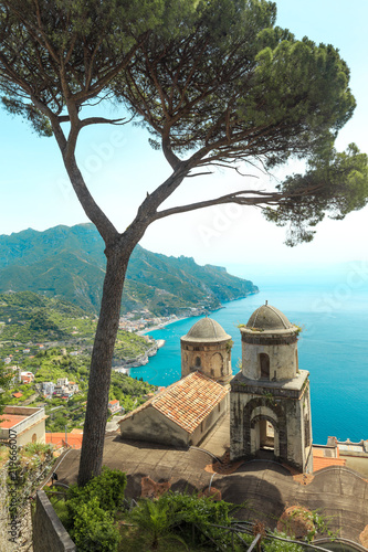 Fototapety, obrazy: Wonderful garden terrace of Villa Rufolo, Ravello,Amalfi coast, Italy,