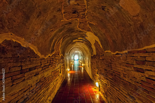 Papiers peints Tunnel Unseen Thailand the old tunnel of Wat Umong Suan Puthatham temple in Chiang Mai, Thailand