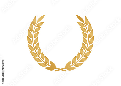 Fotografie, Obraz  Vector gold laurel. Laurel wreath award and golden ribbon.