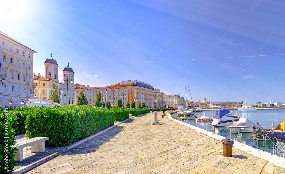 Fototapety, obrazy: Trieste Italy by Adriatic sea