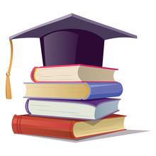 Graduate Hat On The Books