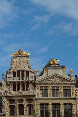 Foto op Canvas Brussel Gildehäuser in Brüssel - Detailaufnahme