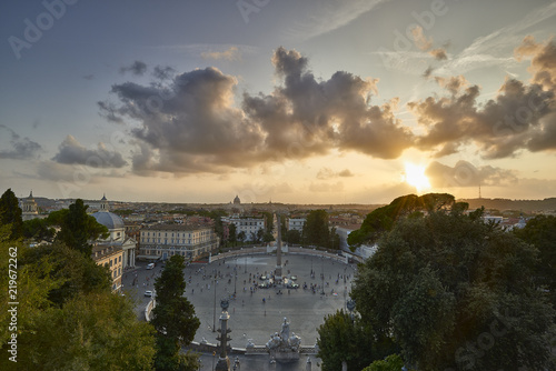 Vista Dalla Terrazza Del Pincio Buy This Stock Photo And