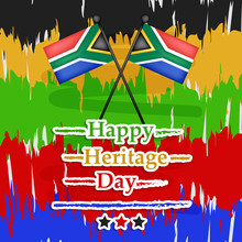 Illustration Of South Africa Heritage Background