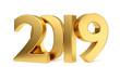 canvas print picture - 2019 golden bold letters 3d-illustration
