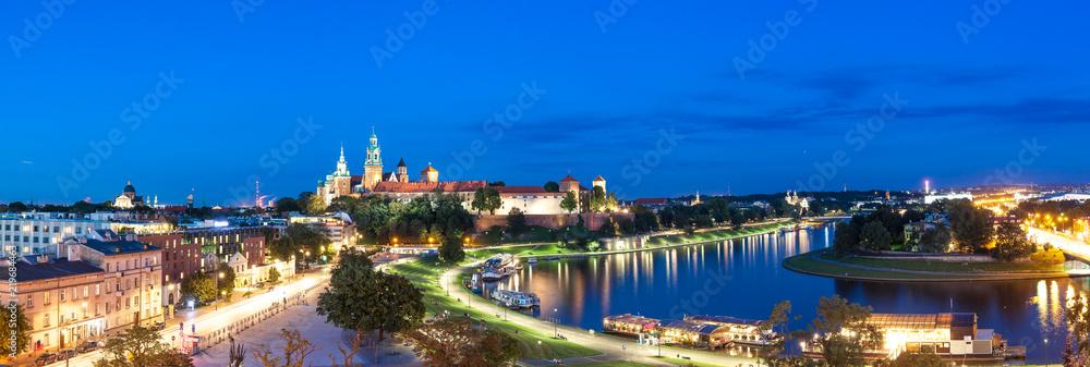 Fototapety, obrazy: Panorama Krakowa