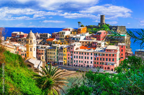 Scenic fishing village Vernazza in