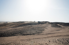Car Overcome Sand Dunes Obstac...