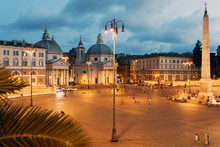 Night View To Piazza Del Popol...