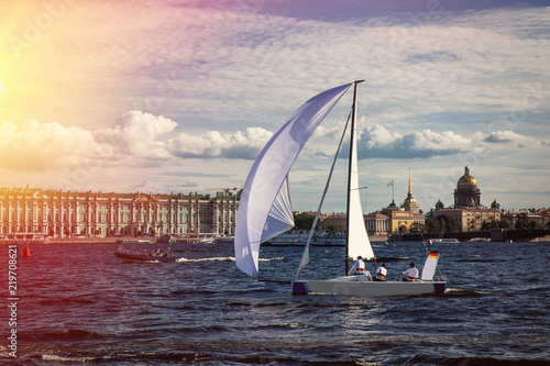 regatta competition in Saint-Petersburg