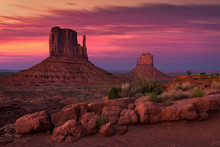 Dusk At The Mittens, Monument Valley, Arizona