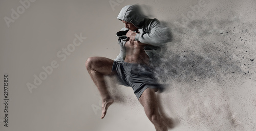Photographie Adult male fighter MMA.