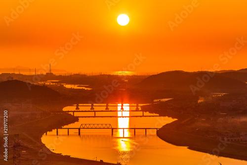 Poster Oranje eclat 秋の夕暮