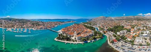 Foto op Plexiglas Europa Aerial panorama of Trogir in summer