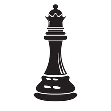 Isolated Queen Chess Piece Icon
