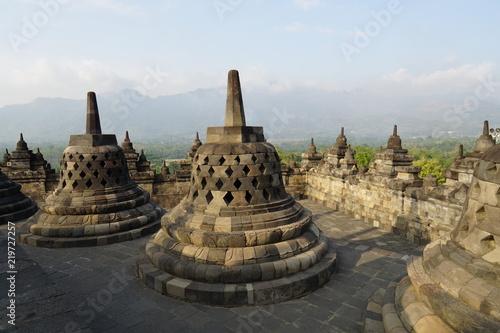 Deurstickers Bedehuis Borobudur Temple is a buddhist temple in Java, Indonesia
