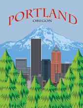 Portland Oregon Skyline Scenic...