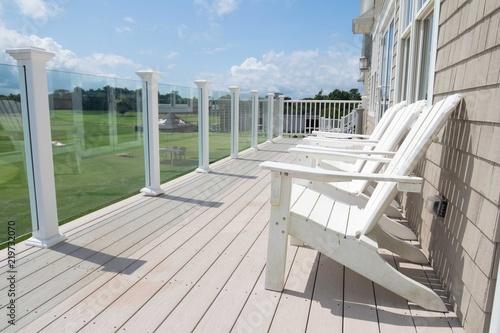 Fényképezés Chairs on a deck