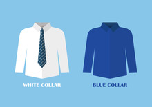White And Blue Shirt Vector Il...