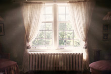 Sunny And Ethereal Bedroom Window Open To Old Dark Bedroom