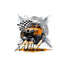 Off-Road ATV Buggy Logo, Extre...