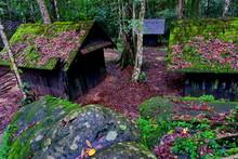 Old Wooden Political And Military School At Phu Hin Rong Kla National Park