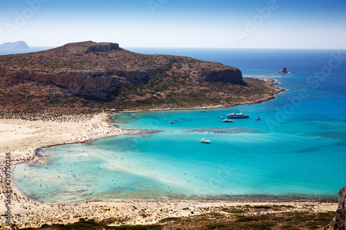Poster Cote Beautiful landscape of Balos beach in crete