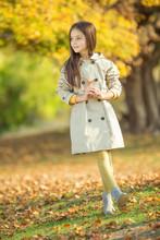 Fashionable Little Girl Autumn