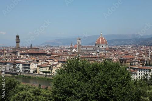 Naklejka premium Florencja. Widok całego miasta