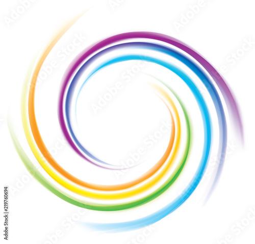 Obraz Vector backdrop of spiral rainbow spectrum - fototapety do salonu