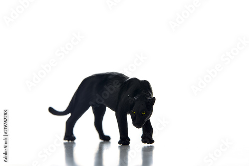 Deurstickers Panter Black panther portrait white background