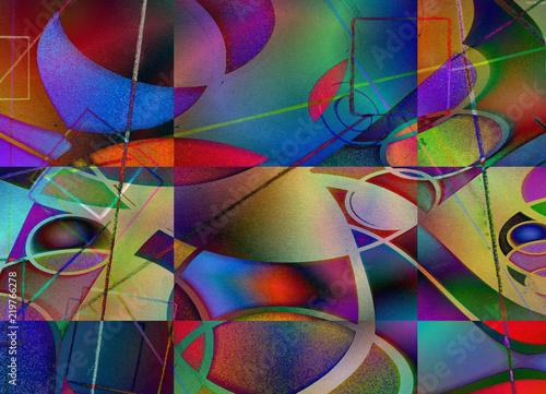 Valokuva  Modern art abstract