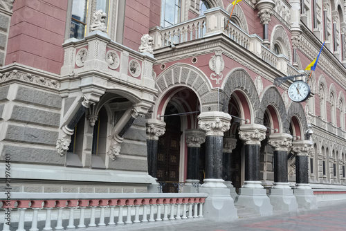 Deurstickers Kiev Building of the National Bank of Ukraine constructed in 1902-1905 in Empire style. Remains of old Kiev.