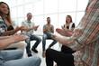 business team applauds at a workshop