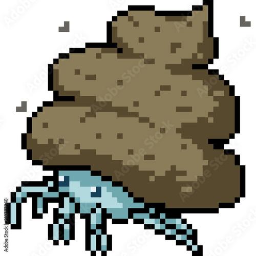 Photo sur Toile Pixel vector pixel art poop crab