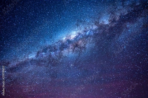Foto auf Gartenposter Nacht Milky way in the night sky of Atacama desert Chile