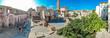 Leinwanddruck Bild Aerial panorama of Split in summer