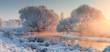 Leinwanddruck Bild - Winter landscape