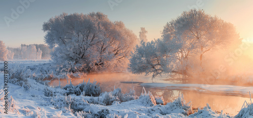 Stickers pour porte Sauvage Winter landscape