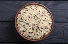 Raw Wild Rice White And Black