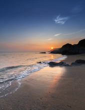 Sunset, Hemmick Beach, Cornwall