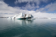 Thousands Years Old Iceberg In Jökulsárlón Glacier Lagoon, Iceland