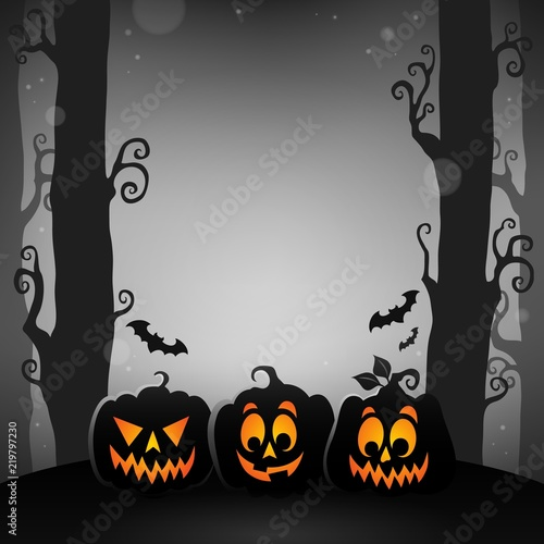 Halloween forest topic image 1