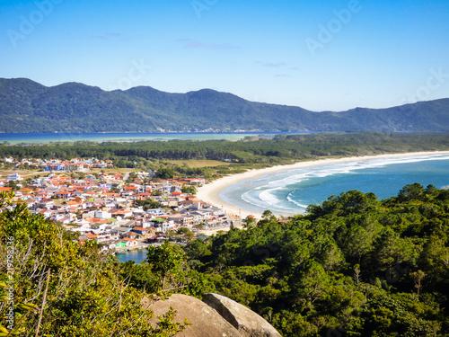 Fotografie, Obraz  A view of Barra da Lagoa village from Boa vista hiking path - Florianopolis, Bra