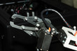 Industrial production robot hand as example of automatization in manufacturing in heavy industry
