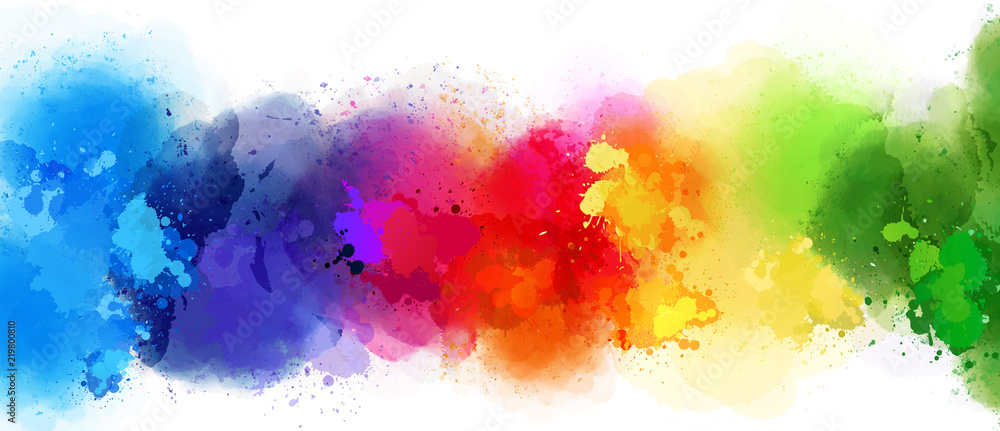 Fototapety, obrazy: colorful splash background