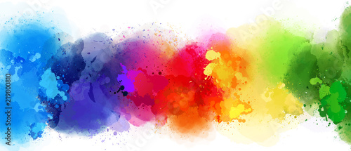 La pose en embrasure Forme colorful splash background