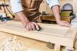 Leinwandbild Motiv detail of carpenter at work