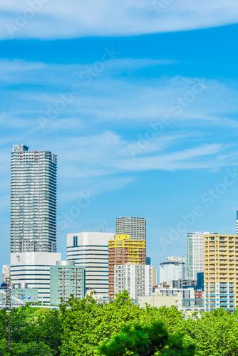 Foto op Aluminium Blauw 不動産イメージ High-rise condominium in Tokyo
